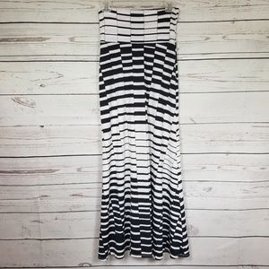 LOVE CULTURE black and white high waist maxi skirt